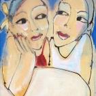 Twee zusjes blauw