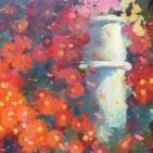 Chrysanten in tuin