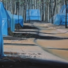 slum forest- 50 x 81- eitempera- € 3.900